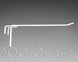 Крючок одинарный (L-350 мм) э/панель,сетка,перфорация
