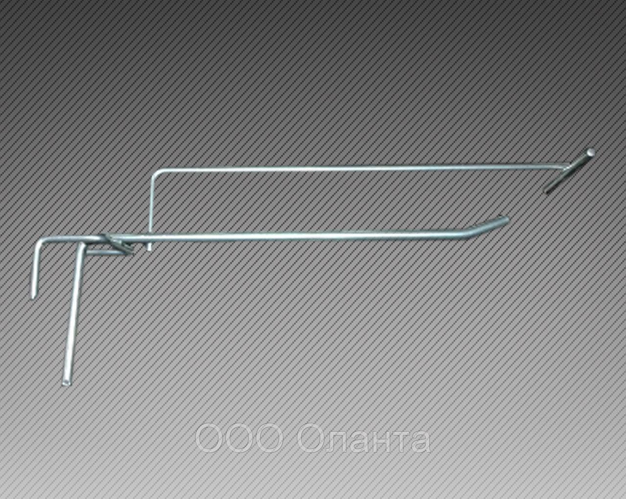 Крючок одинарный с держателем ценника (L-100 мм) э/панель,сетка,перфорация