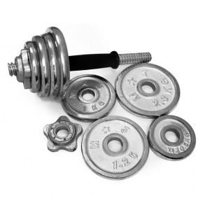 Гантель 30 кг разборный хром - фото 3