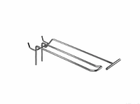 Крючок двойной с держателем ценника (L-250 мм) э/панель,сетка,перфорация, фото 1