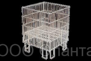Корзина для распродаж напольная c регулируемым дном (400х400х780 мм) цинк арт. IZ40/40