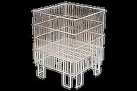 Корзина для распродаж напольная c регулируемым дном (600х400х780 мм) цинк арт. IZ60/40
