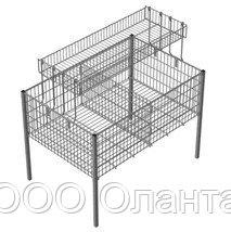 Стол для распродаж-накопитель c регулируемым дном и надстройкой (1200х600х800 мм) цинк арт. RIZ120/60