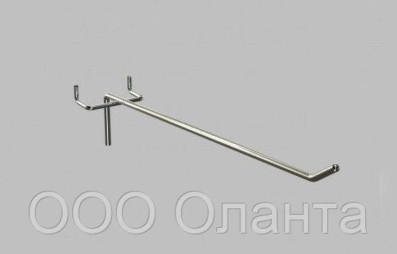 Крючок одинарный 250 мм (шаг 50 мм) хром