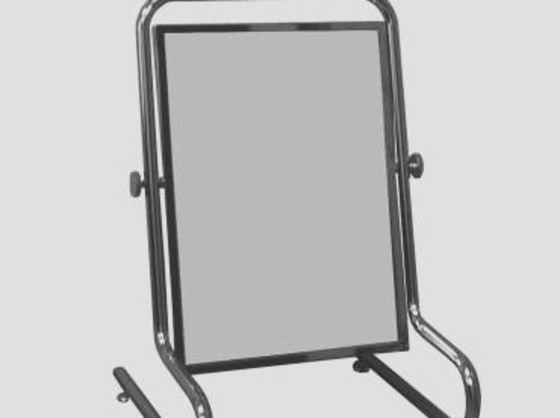 Зеркало напольное для обуви (350х500 мм) хром арт. ST248