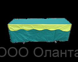 Скатерть с воланом на стол-чемодан двухсекционный (1800х600 мм)