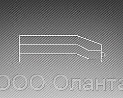 Ограждение боковое разделитель для полки (400х130 мм)