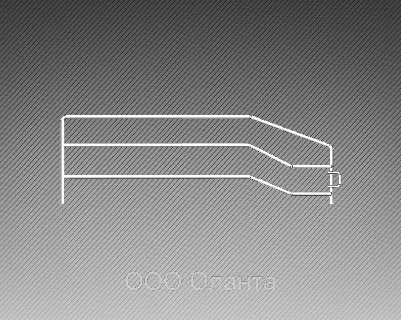 Ограждение боковое разделитель для полки (500х130 мм)