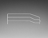 Ограждение боковое разделитель для европолки (300х125 мм)