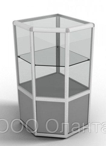 Прилавок демонстрационный угловой (500х500х900 мм)