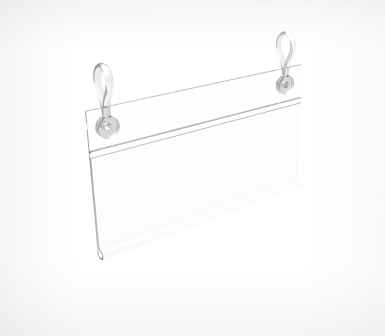Ценникодержатель для подвешивания на проволочные корзины с отверстиями для клипс DBH60 (L=1250 мм)