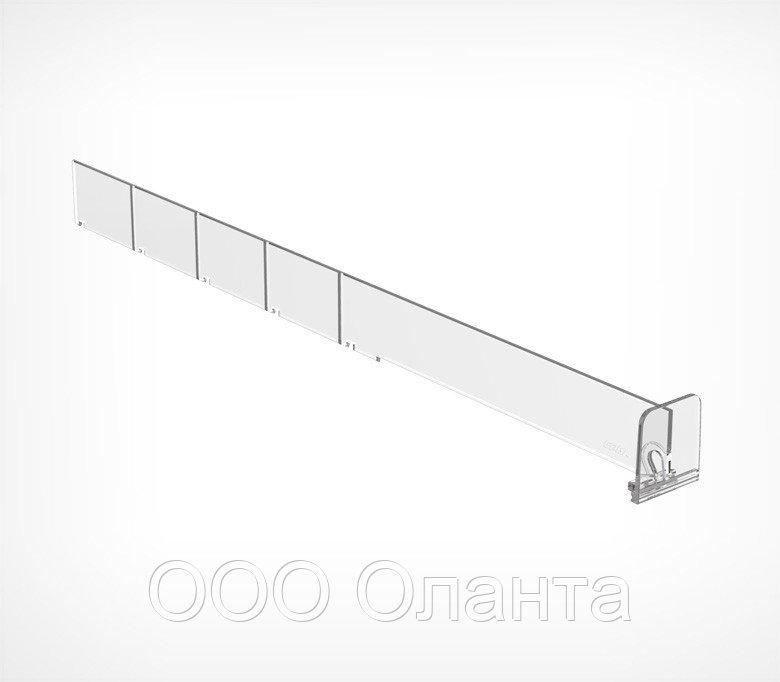 Пластиковый обламывающийся разделитель с передним ограничителем (L=185-385 мм/H=30 мм) DIV30-BT35 арт.770030