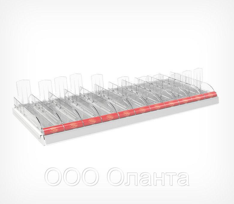 Комплект лотков для выкладки плиточного шоколада CHOCO-TRAY-SET-11 (1000х395х145 мм) арт.777012