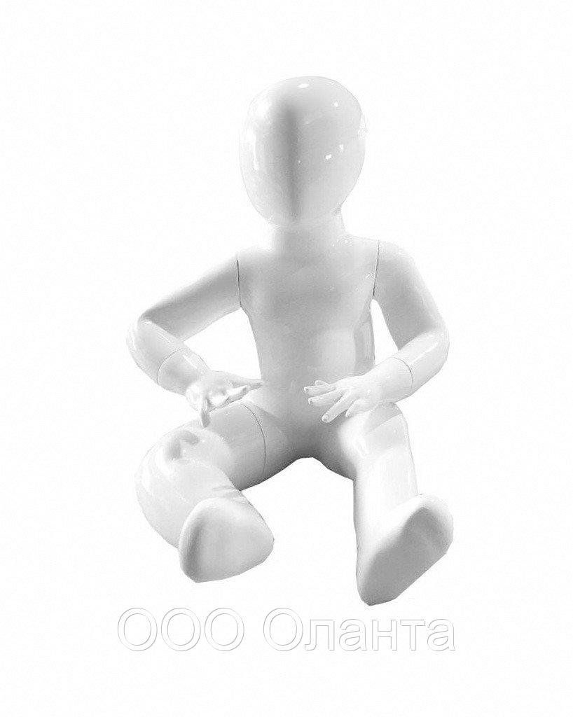 Mанекен детский сидячий (рост 45 см) черный глянец арт. FBBABC2
