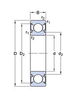 6003-2RZ/LHT23   подшипник SKF