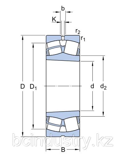 23034 CCK/W33   подшипник  SKF