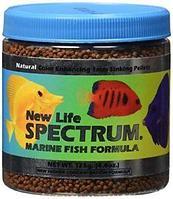 New Life Spectrum Marine Fish Formula 1mm Sinking Pellet Fish Food (Natural Color Enhancing) 125 гр