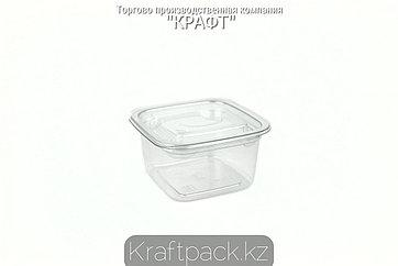 Контейнеры с крышкой СпК-0909 - 200мл ПЭТ прозрачный (50/500) ПолиЭр