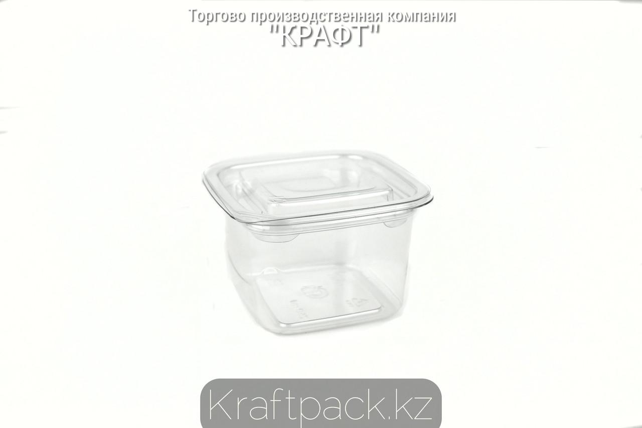 Контейнеры с крышкой СпК-0909 - 250мл ПЭТ прозрачный (50/500) ПолиЭр
