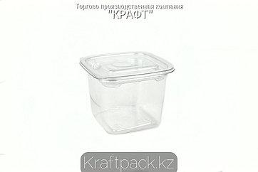 Контейнеры с крышкой СпК-0909 - 300мл ПЭТ прозрачный (50/500) ПолиЭр