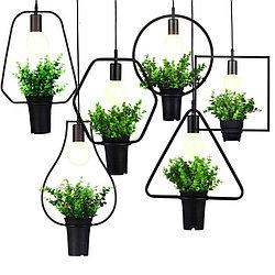 Светильник подвесной (люстра с растением)