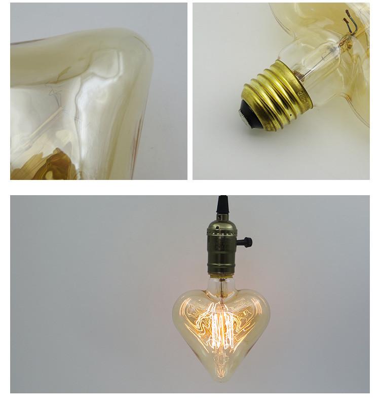 Декоративная лампа (филаментная) в виде сердца - фото 2