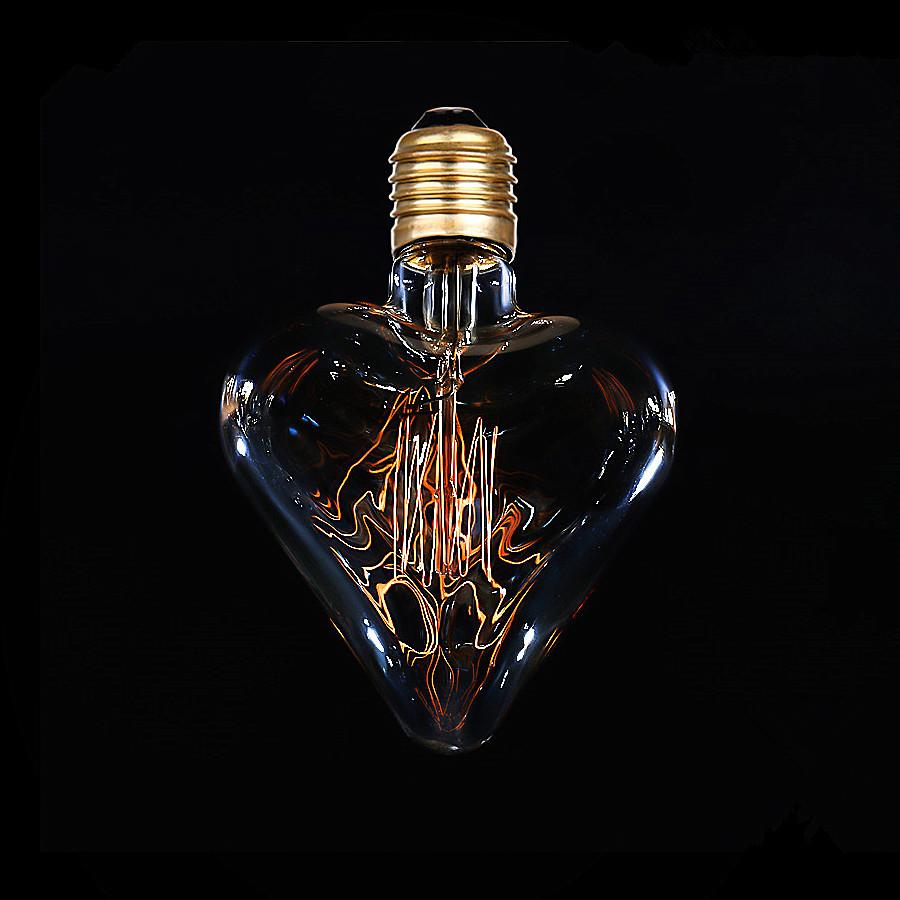 Декоративная лампа (филаментная) в виде сердца - фото 3