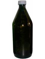 Бутылки для реактивов из темного стекла с завинчивающейся полипропиленовой крышкой