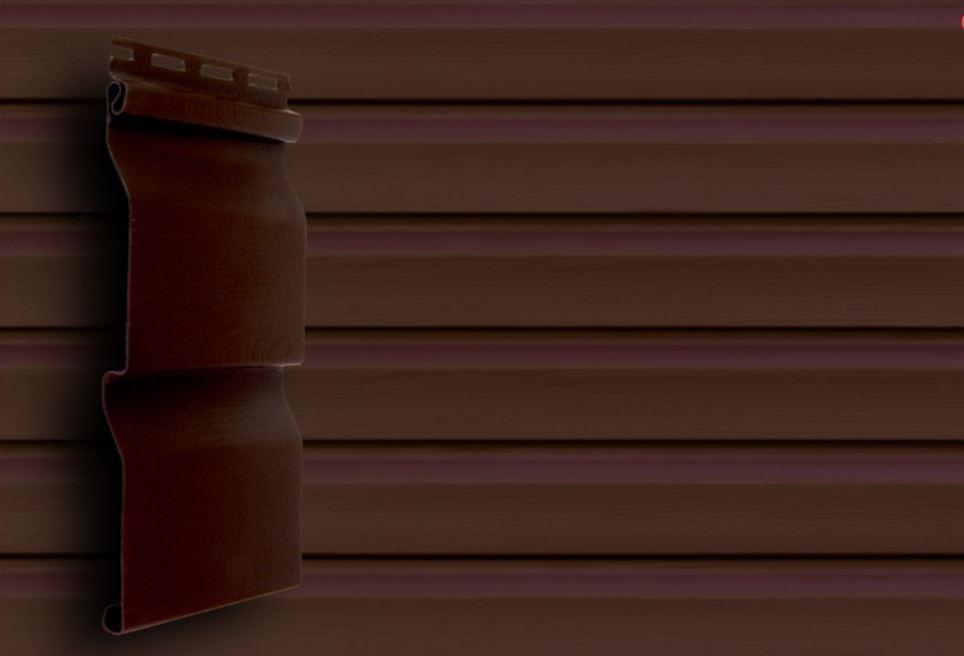Сайдинг акрил 3,6 GL America D4,4 корабельный брус. Имитация деревянной доски, цвет темный дуб
