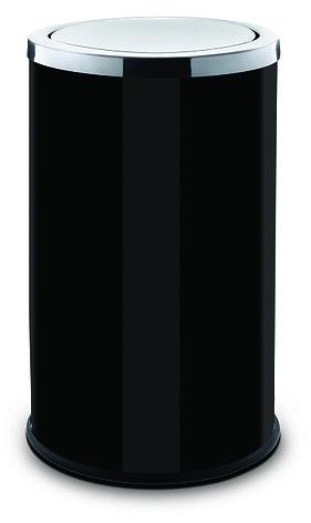 Контейнер для мусора ALDA с вращающейся крышкой 45 литров серия SWING (Чёрный), фото 2