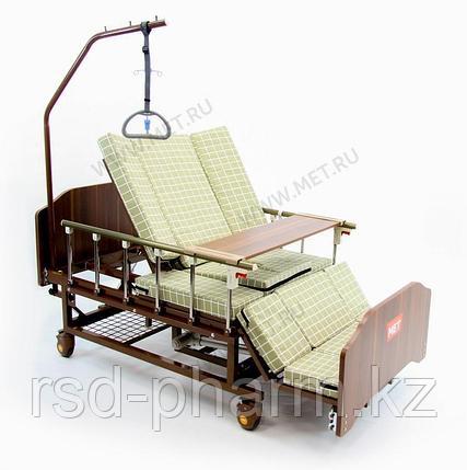 """MET EVA Кровать функциональная медицинская электрическая с полным переворотом, с туалетом, с """"ушками"""", фото 2"""