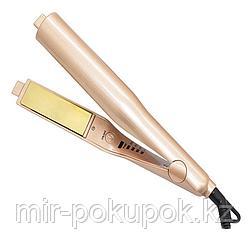 Утюжок для завивки и выпрямления волос 2 в 1 Hair Curling Iron (золотистый), Алматы