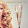 Утюжок для завивки и выпрямления волос 2 в 1 Hair Curling Iron (золотистый), Алматы, фото 4