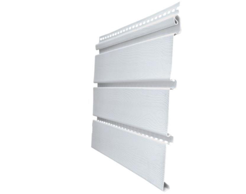 Софит T4 Grand Line 3,0 виниловый софит, цвет белый, без перфорации