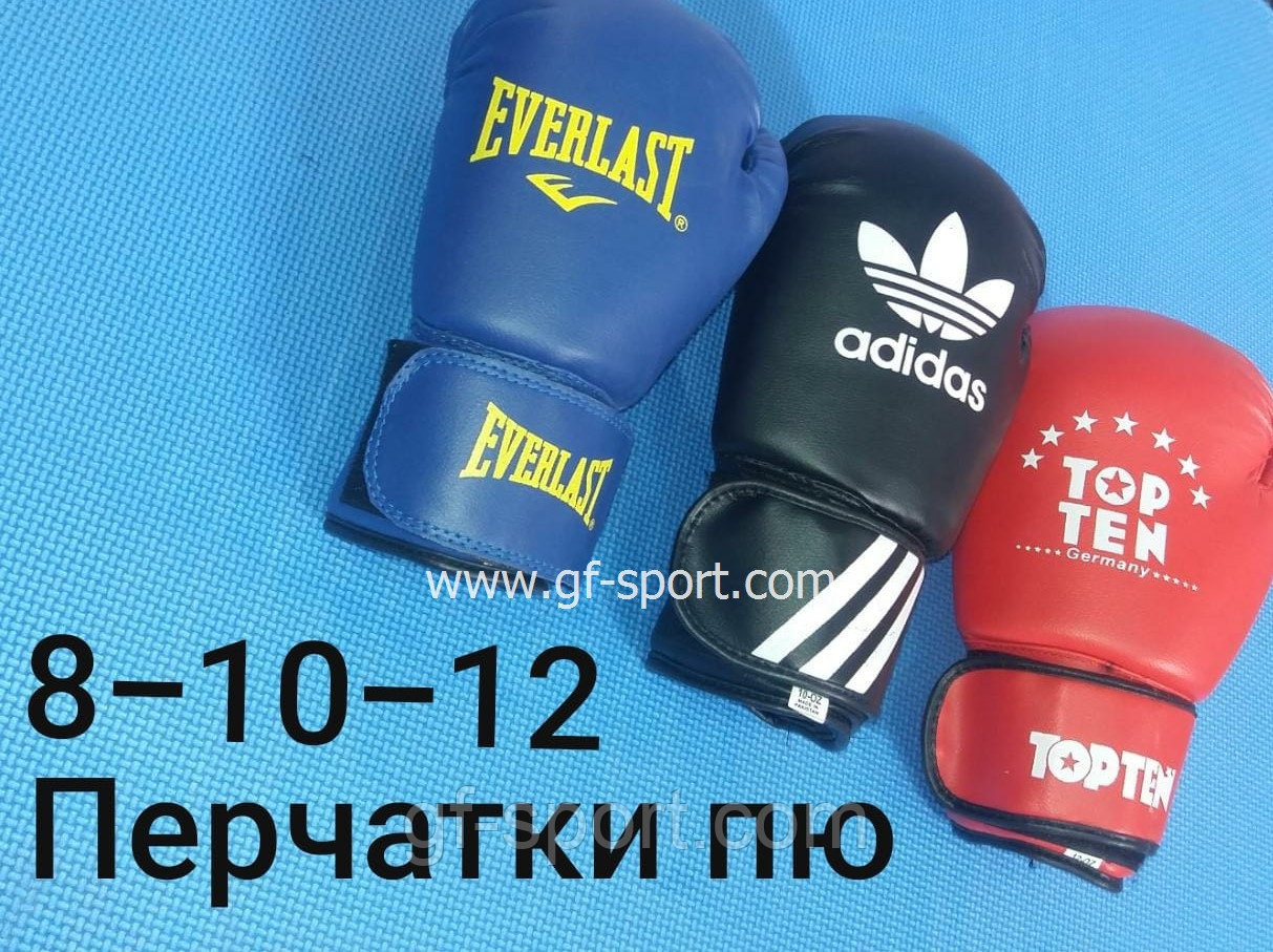 Перчатки Top Ten 8,10,12 унт (Бокс) PU