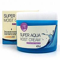 Крем для лица и тела увлажняющий  Welcos IOU Super Aqua Moist Cream 300g.