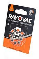 Батарейка RAYOVAC 13 PR48  1,45v для слуховых аппаратов