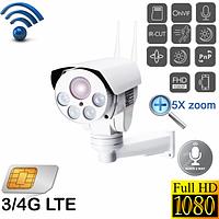 Уличная поворотная 3G 4G Wi-Fi IP камера , фото 1