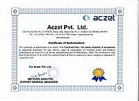 Сертификат Aczet