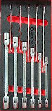 Набор шарнирных и рожковых ключей, 11пр в мягком ложементе