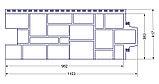 """Фасадная панель Grand Line коллекция """"крупный камень, цвет бежевый, фото 2"""