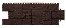 """Фасадная панель Grand Line коллекция """"крупный камень"""" цвет коричневый"""