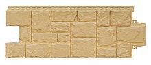 """Фасадная панель Grand Line коллекция """"крупный камень, цвет песочный"""