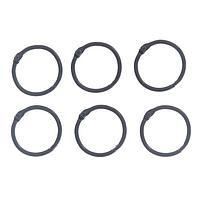 """Кольца для творчества (для фотоальбомов) """"Чёрное"""" набор 6 шт d=3 см 2587235"""