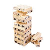 """Падающая башня """"Каланча"""", 45 пронумерованных брусков, 4 кубика 4156834"""