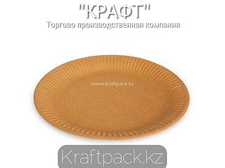 Бумажная тарелка крафт 230мм DoEco (100/600)