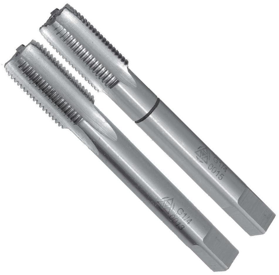 Метчики машинные с винтовой подточкой и шахматным расположением зубьев M8x1,25