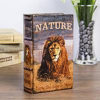 """Сейф-книга дерево """"Природа льва"""" кожзам 17х11х5 см   3622205, фото 1"""