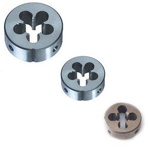 Плашки круглые Р6М5 6е М10х1