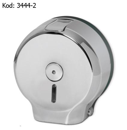 Диспенсер для рулонной туалетной бумаги Jumbo, серебристый, хром